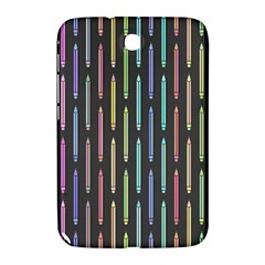 Pencil Stationery Rainbow Vertical Color Samsung Galaxy Note 8.0 N5100 Hardshell Case