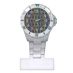 Pencil Stationery Rainbow Vertical Color Plastic Nurses Watch