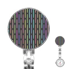 Pencil Stationery Rainbow Vertical Color Stainless Steel Nurses Watch