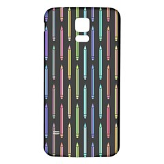 Pencil Stationery Rainbow Vertical Color Samsung Galaxy S5 Back Case (White)
