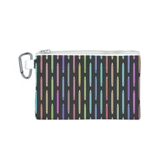 Pencil Stationery Rainbow Vertical Color Canvas Cosmetic Bag (S)