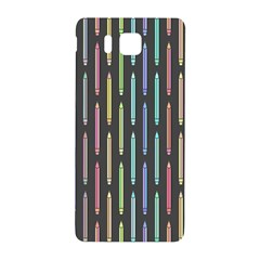 Pencil Stationery Rainbow Vertical Color Samsung Galaxy Alpha Hardshell Back Case