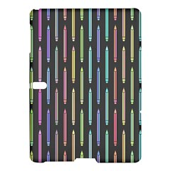Pencil Stationery Rainbow Vertical Color Samsung Galaxy Tab S (10.5 ) Hardshell Case