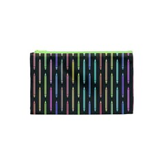 Pencil Stationery Rainbow Vertical Color Cosmetic Bag (XS)
