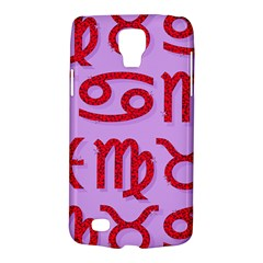 Illustrated Zodiac Red Purple Star Galaxy S4 Active