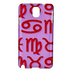 Illustrated Zodiac Red Purple Star Samsung Galaxy Note 3 N9005 Hardshell Case