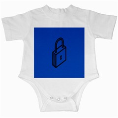 Padlock Love Blue Key Infant Creepers