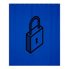Padlock Love Blue Key Shower Curtain 60  x 72  (Medium)