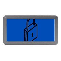 Padlock Love Blue Key Memory Card Reader (Mini)