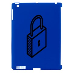 Padlock Love Blue Key Apple iPad 3/4 Hardshell Case (Compatible with Smart Cover)