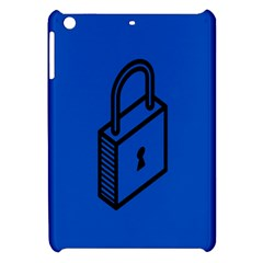 Padlock Love Blue Key Apple iPad Mini Hardshell Case