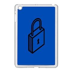 Padlock Love Blue Key Apple iPad Mini Case (White)