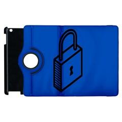 Padlock Love Blue Key Apple iPad 2 Flip 360 Case