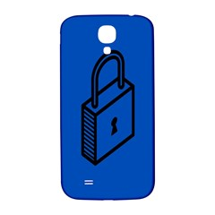 Padlock Love Blue Key Samsung Galaxy S4 I9500/I9505  Hardshell Back Case