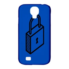 Padlock Love Blue Key Samsung Galaxy S4 Classic Hardshell Case (PC+Silicone)