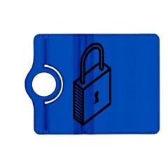 Padlock Love Blue Key Kindle Fire HD (2013) Flip 360 Case