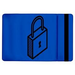 Padlock Love Blue Key iPad Air Flip