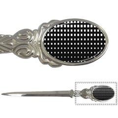 Plaid White Black Letter Openers