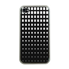 Plaid White Black Apple iPhone 4 Case (Clear)