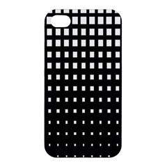 Plaid White Black Apple iPhone 4/4S Hardshell Case