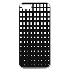 Plaid White Black Apple Seamless iPhone 5 Case (Clear)