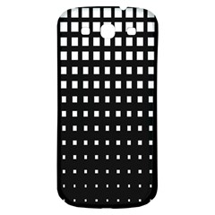 Plaid White Black Samsung Galaxy S3 S III Classic Hardshell Back Case