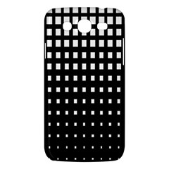 Plaid White Black Samsung Galaxy Mega 5.8 I9152 Hardshell Case