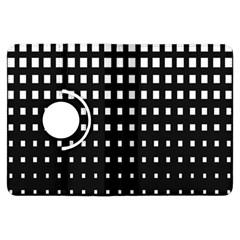 Plaid White Black Kindle Fire HDX Flip 360 Case