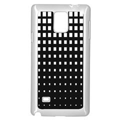 Plaid White Black Samsung Galaxy Note 4 Case (White)