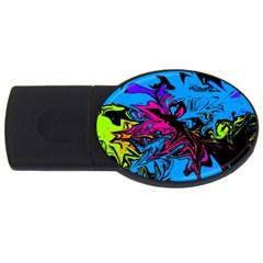 Colors USB Flash Drive Oval (1 GB)