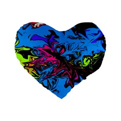Colors Standard 16  Premium Flano Heart Shape Cushions