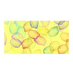 Watercolors on a yellow background          Satin Wrap