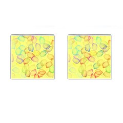 Watercolors on a yellow background                Cufflinks (Square)
