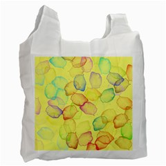 Watercolors on a yellow background                Recycle Bag (One Side)