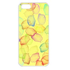 Watercolors on a yellow background          Apple iPhone 5 Seamless Case (White)