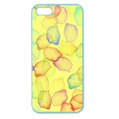 Watercolors on a yellow background          Apple Seamless iPhone 5 Case (Clear)