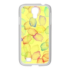 Watercolors on a yellow background          Samsung Galaxy Note 2 Case (White)