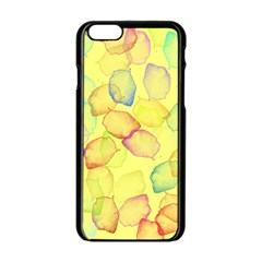 Watercolors On A Yellow Background          Apple Iphone 6/6s White Enamel Case