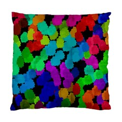 Colorful strokes on a black background         Standard Cushion Case (Two Sides)