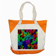 Colorful strokes on a black background               Accent Tote Bag