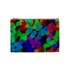 Colorful strokes on a black background               Cosmetic Bag