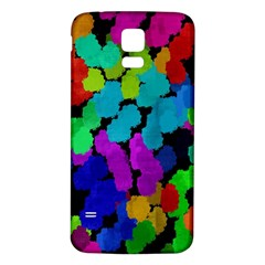Colorful strokes on a black background         Samsung Galaxy S5 Case (Black)