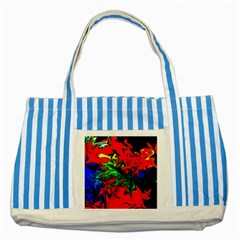 Colors Striped Blue Tote Bag