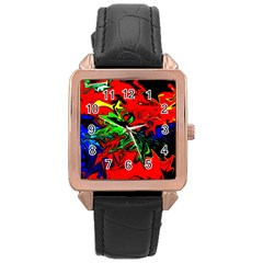 Colors Rose Gold Leather Watch