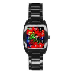 Colors Stainless Steel Barrel Watch