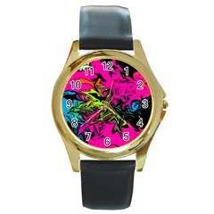 Colors Round Gold Metal Watch