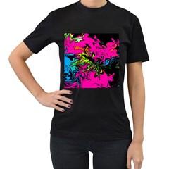 Colors Women s T-Shirt (Black)