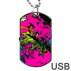 Colors Dog Tag USB Flash (One Side)