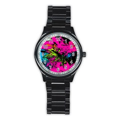 Colors Stainless Steel Round Watch