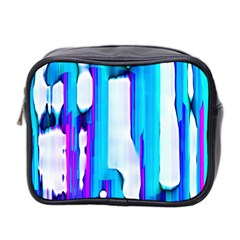 Blue watercolors               Mini Toiletries Bag (Two Sides)